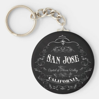 San Jose, California - Capital of Silicon Valley Basic Round Button Keychain