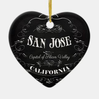 San Jose, California - Capital of Silicon Valley Ceramic Ornament