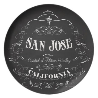 San Jose, California - Capital of Silicon Valley Plate