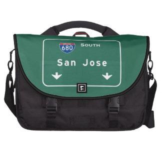 San Jose California Interstate Highway Freeway : Commuter Bags