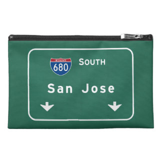 San Jose California Interstate Highway Freeway : Travel Accessory Bag