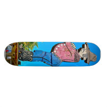 San jose California USA wooden cowboy landmark Skateboard