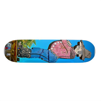 San jose California USA wooden cowboy landmark Skateboard