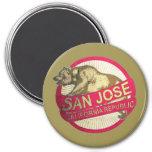 San Jose California vintage bear magnet