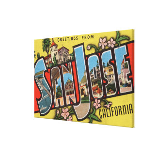 San Jose, CaliforniaLarge Letter Scenes 2 Canvas Print