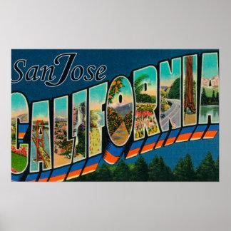 San Jose, CaliforniaLarge Letter Scenes Poster