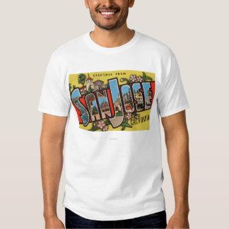 San Jose, CaliforniaLarge Letter Scenes Shirt