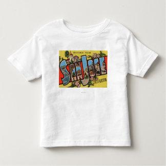 San Jose, CaliforniaLarge Letter Scenes T-shirt