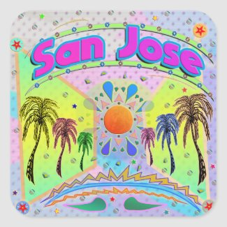 San Jose Calm Desire Sticker
