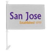 San Jose Car Flag