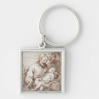 San José con el niño durmiente de Cristo (pluma y  Llaveros