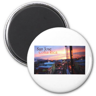 San Jose Costa Rica Sunset Magnet
