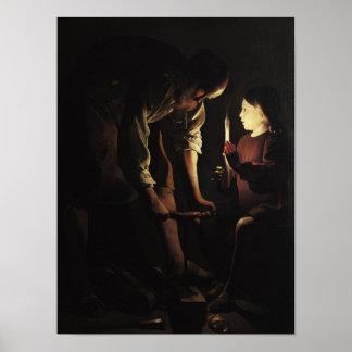 San José, el carpintero, c.1640 Impresiones