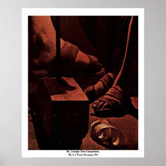 San José el carpintero, por el viaje Jorte De del Póster