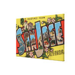 San Jose, escenas 2 de la letra de CaliforniaLarge Impresión En Lona