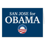 SAN JOSE for Obama custom your city personalized Greeting Cards