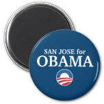 SAN JOSE for Obama custom your city personalized Magnets