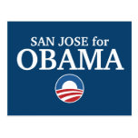 SAN JOSE for Obama custom your city personalized Post Card