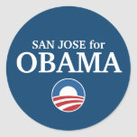 SAN JOSE for Obama custom your city personalized Round Stickers