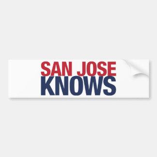 San Jose Knows Bumper Sticker