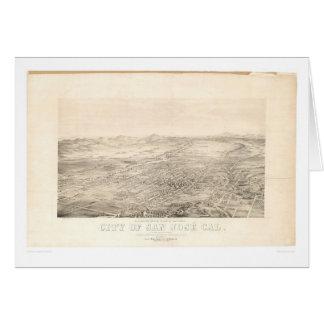 San Jose, mapa panorámico 1869 (1559A) del CA Tarjeta De Felicitación