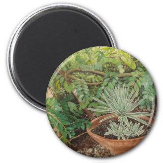 San Jose Mission Garden Painting Fridge Magnet