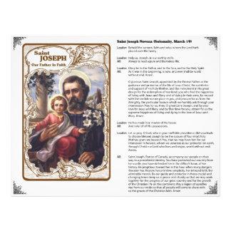 San José - nuestro padre en aviador del personaliz Tarjetas Informativas
