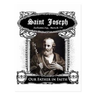 San José - nuestro padre en postal del personaliza