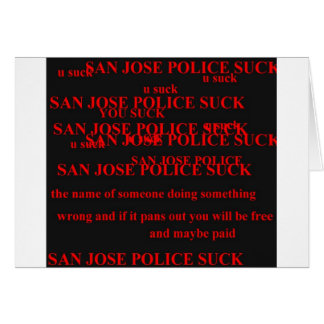 san jose police card