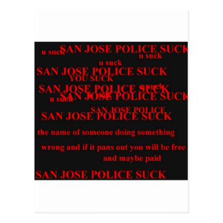 san jose police postcard