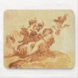 San José que adora al niño de Cristo (pluma, tinta Tapetes De Ratón