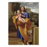 San José que lleva al Jesús infantil, 1665 Tarjeton
