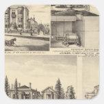 San Jose residences, businesses, college Square Sticker
