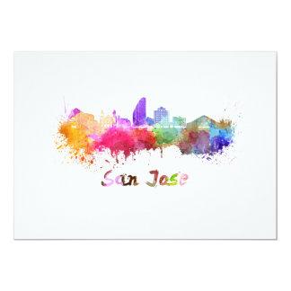 San Jose skyline in watercolor Card