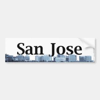 San Jose Skyline with San Jose in the Sky Bumper Sticker