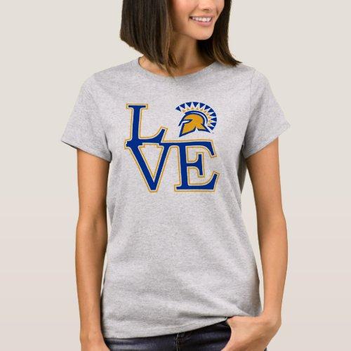 San Jose State Love T_Shirt