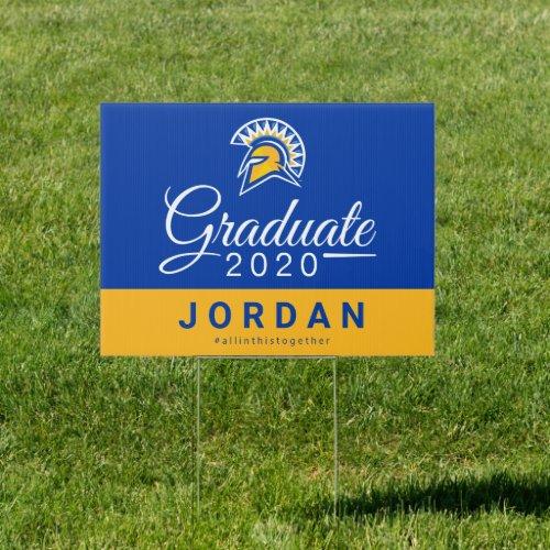 San Jose State Spartans 2020 Graduate Sign