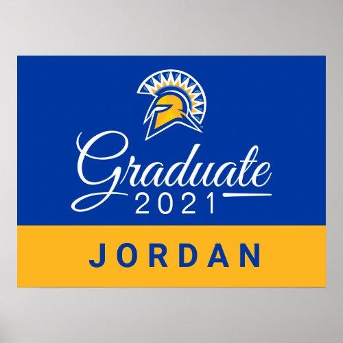 San Jose State Spartans 2021 Graduate Poster