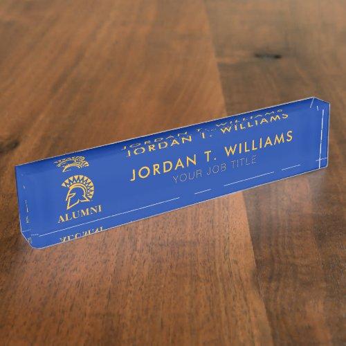 San Jose State Spartans Alumni Desk Name Plate