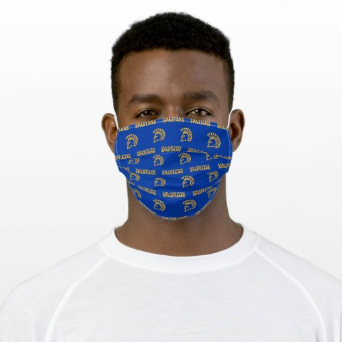 San Jose State Spartans Blue Pattern Adult Cloth Face Mask