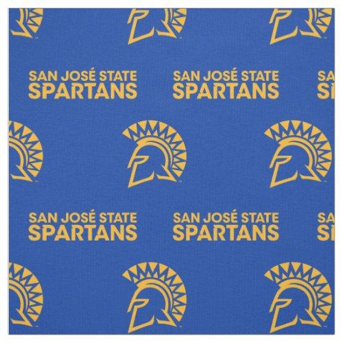 San Jose State Spartans Blue Pattern Fabric