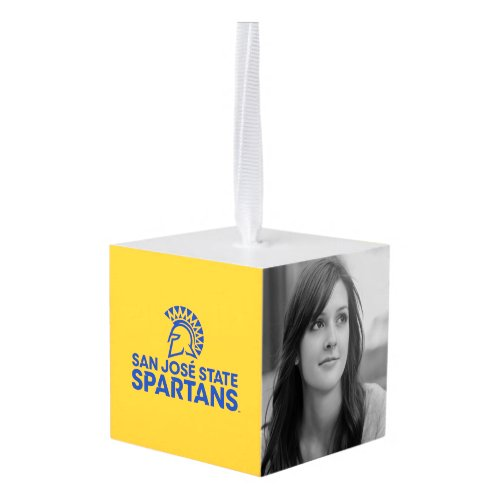 San Jose State Spartans Logo Wordmark Cube Ornament