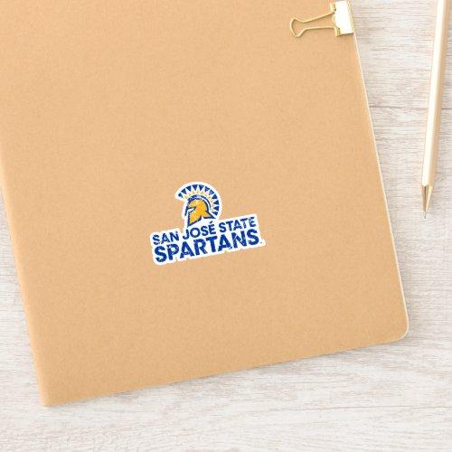 San Jose State Spartans Logo Wordmark Distressed Sticker