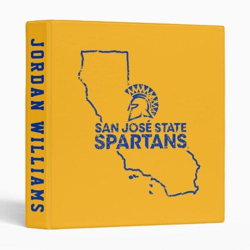 San Jose State Spartans Love 3 Ring Binder