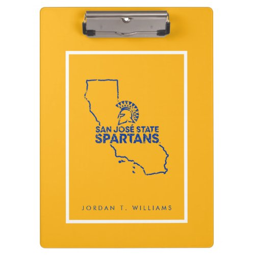 San Jose State Spartans Love Clipboard