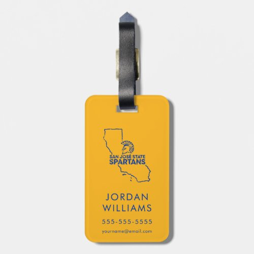 San Jose State Spartans Love Luggage Tag