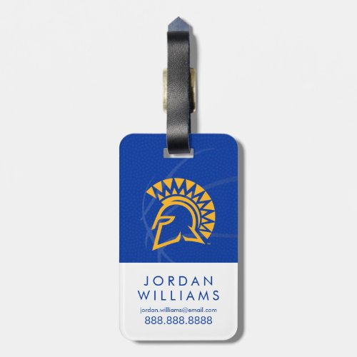 San Jose State Spartans State Basketball Luggage Tag