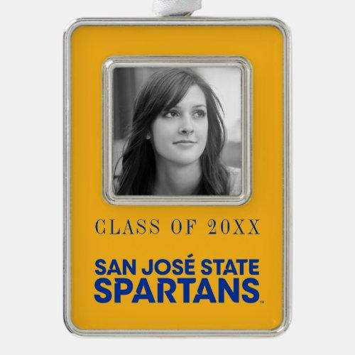 San Jose State Spartans Wordmark Christmas Ornament