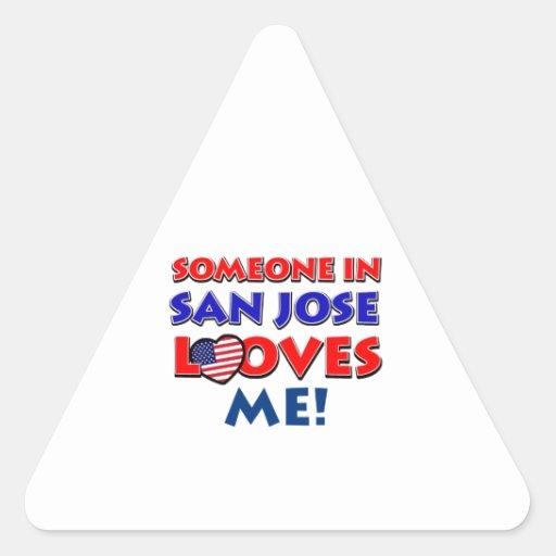 San Jose Usa Designs Triangle Sticker Zazzle