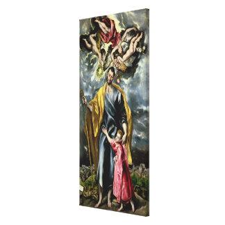 San José y el niño de Cristo, 1597-99 Impresiones En Lienzo Estiradas